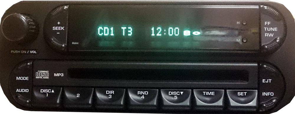 Штатная магнитола для Dodge p05064000ab фото