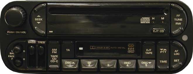 Штатная магнитола P05064385AF RAD для Dodge фото