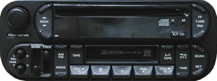 Штатная магнитола p05091525aa для Dodge фото