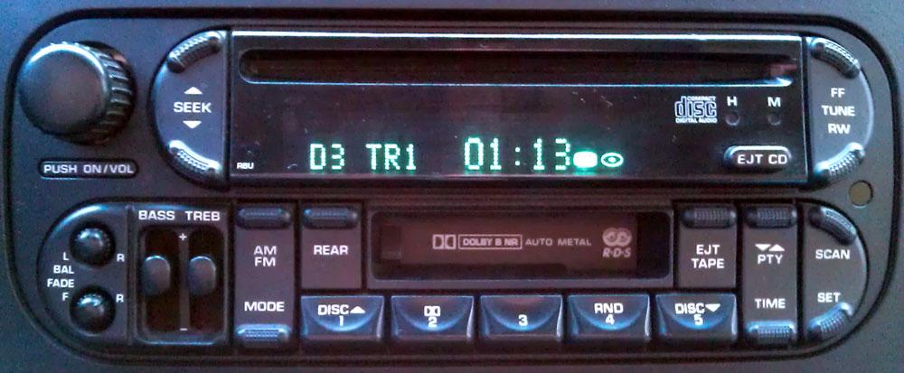 Штатная магнитола P56038620AJ RBU фото