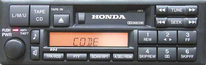 Штатная магнитола мп3 Honda Accord 2sf0 фото
