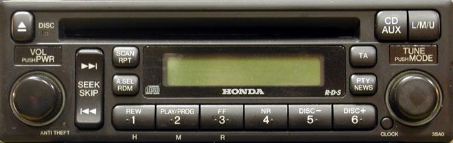 автомагнитола для Honda 3SA0 фото
