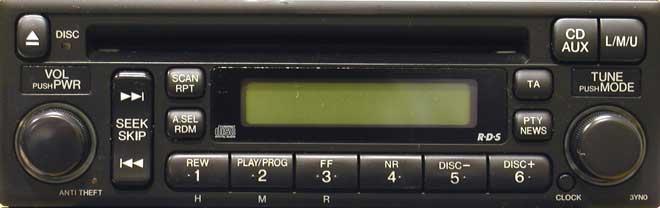 Штатная магнитола для Honda 3YN0 фото
