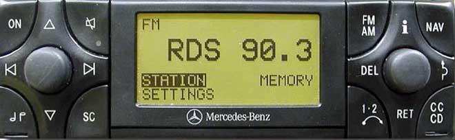 Штатная магнитола для Mercedes APS BT/2 (BO1100, BO1150) фото