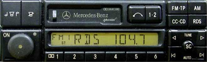 Штатная магнитола для Mercedes Special (BE1650, BE2210) фото