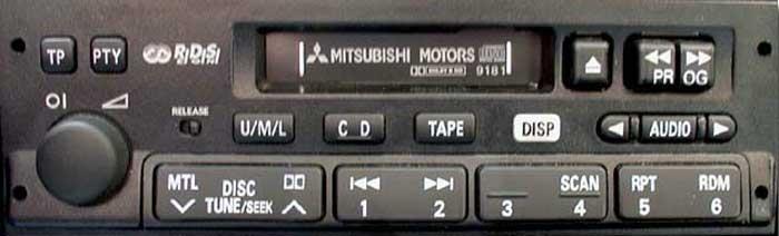 Штатная магнитола для Mitsubishi 9181 Carisma фото