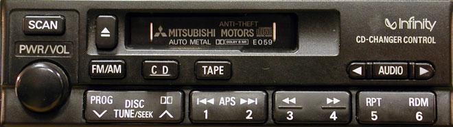 Штатная магнитола для Mitsubishi E059 фото