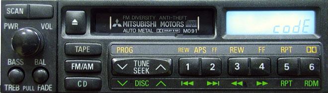 Штатная магнитола для Mitsubishi M091 фото