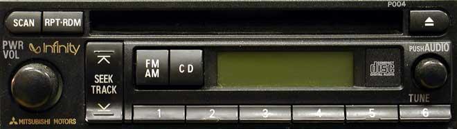 Штатная магнитола для Mitsubishi P004 фото