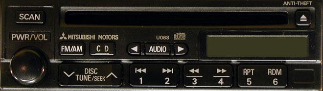 Штатная магнитола для Mitsubishi U068 фото