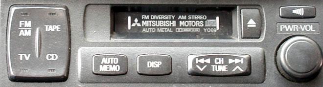 Штатная магнитола для Mitsubishi Y069 фото
