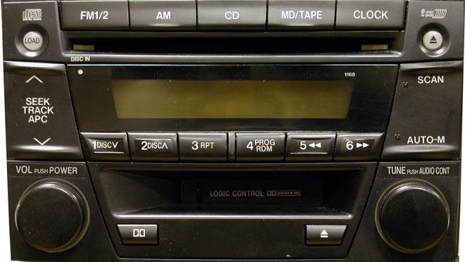 Штатная магнитола для Mazda 1168 фото