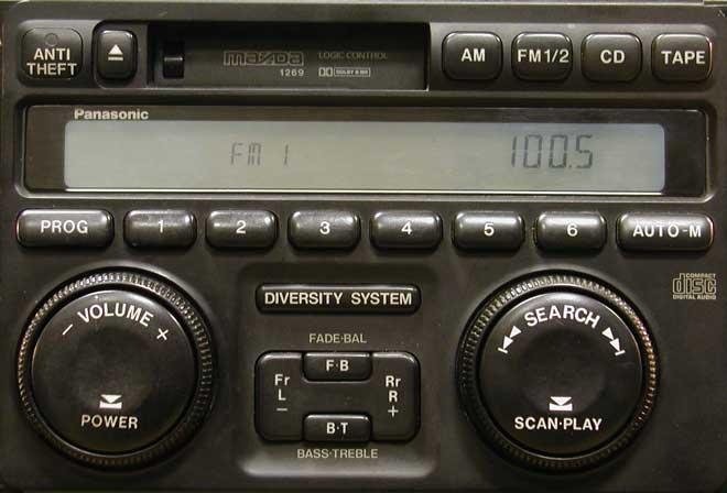 Штатная магнитола для Mazda 1269 фото