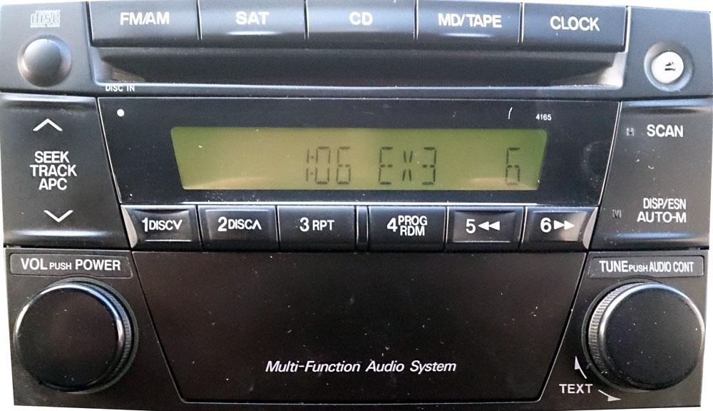 Штатная магнитола для Mazda Mazda 4165, Mazda MPV 2003 фото