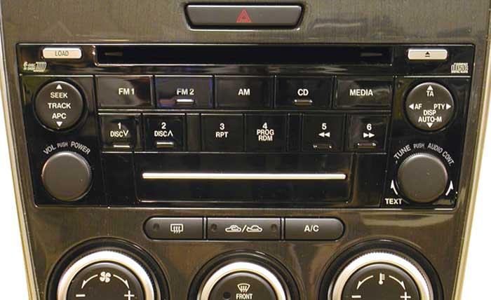 Штатная магнитола для Mazda CQ-EM4570AK (6-CD), Mazda-6 фото