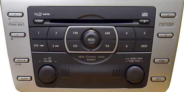 Штатная магнитола для Mazda GS1F669RXA фото