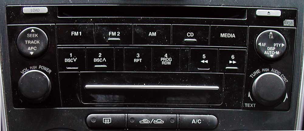 Штатная магнитола для Mazda-6 (1-CD) фото