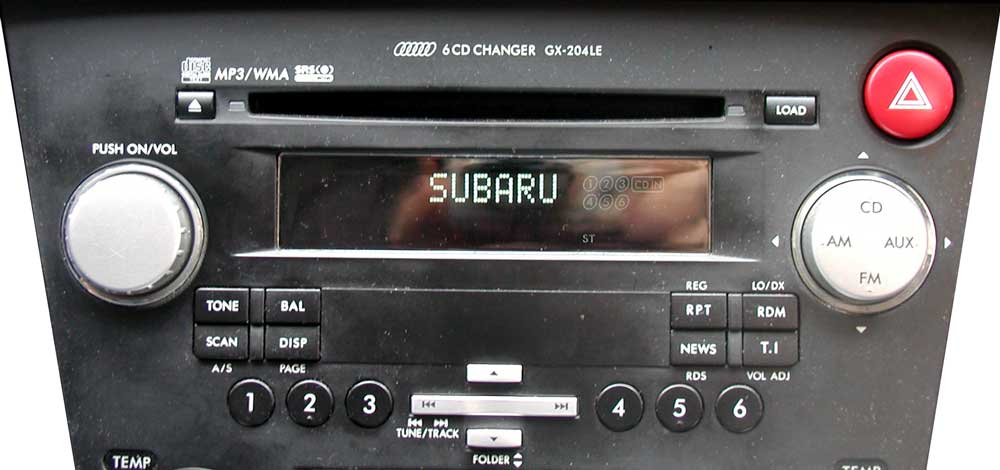 Штатная магнитола для Subaru GX-204LE (Kenwood) фото