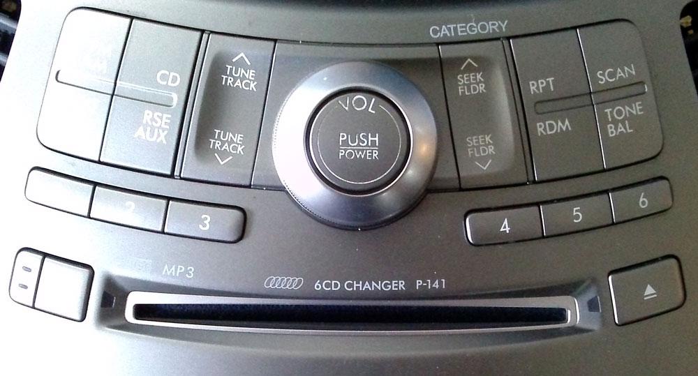 Штатная магнитола для Subaru P-141 6-disc MP3, Panasonic Tribeca фото
