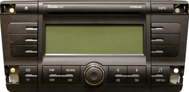 Штатная магнитола для Skoda Stream фото