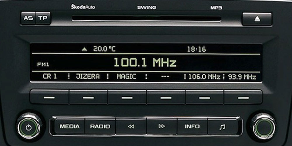 Штатная магнитола мп3 для Skoda Swing фото