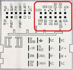 Разъем Skoda тип 12-pin рисунок