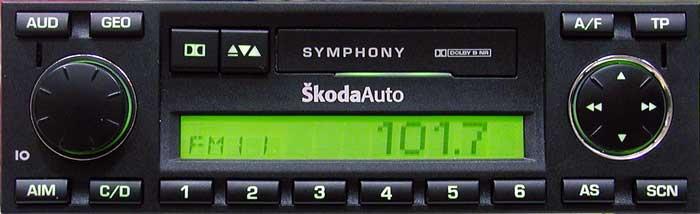 Штатная mp3 магнитола для Skoda Symphony фото