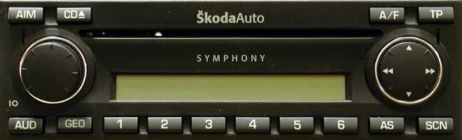 Штатная магнитола для Skoda Symphony-CD фото