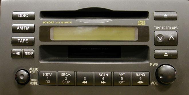 Штатная магнитола для Toyota 55838 фото