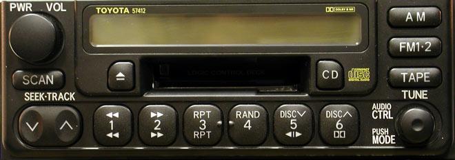 Штатная магнитола для Toyota 57412 фото