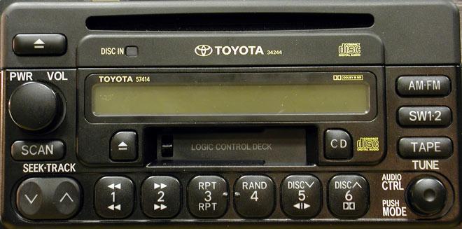 Штатная магнитола для Toyota 57414 фото