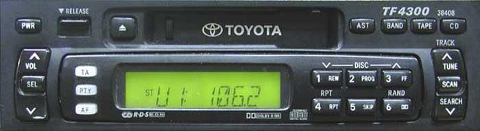 Штатная магнитола для Toyota 38408 фото
