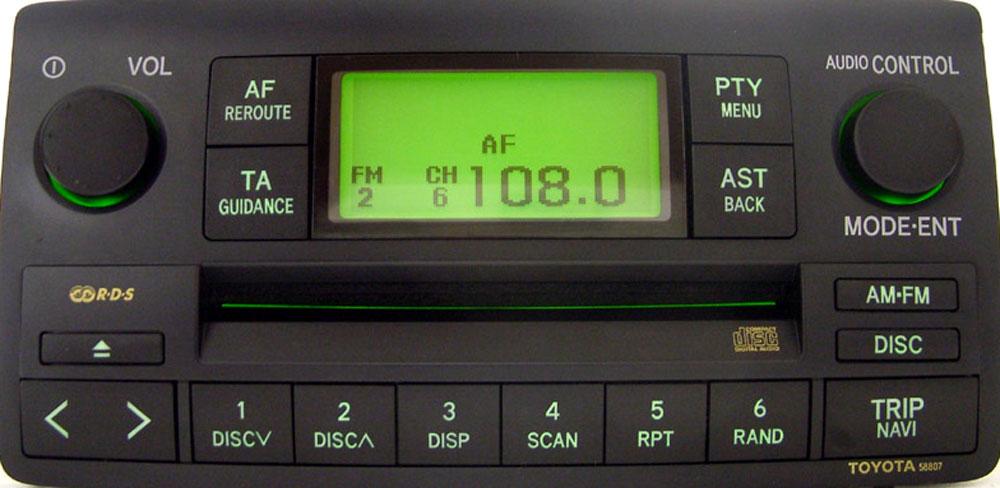 Штатная магнитола для Toyota 58807 фото