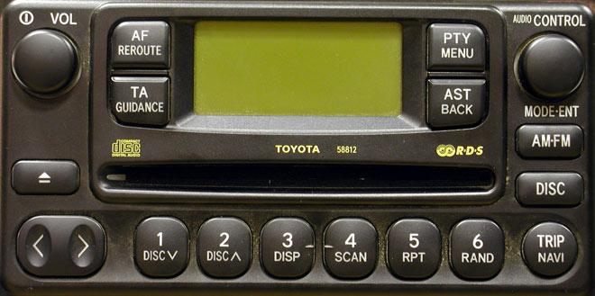 Штатная магнитола для Toyota 58812 фото