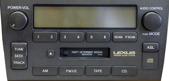 Штатная магнитола для Lexus P1708 фото