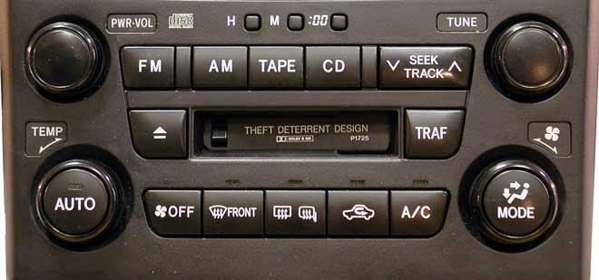 Штатная магнитола для Lexus P1725 фото