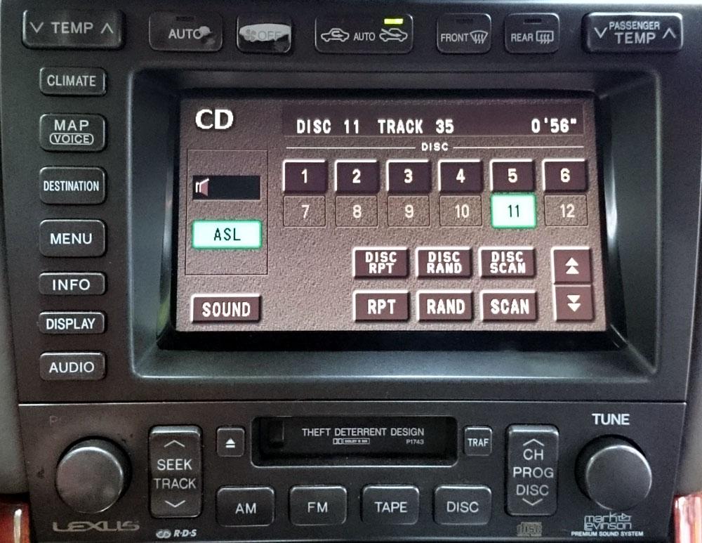 Штатная магнитола для Lexus P1743 фото