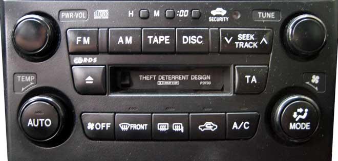 Штатная магнитола для Lexus P3730, P3731 фото