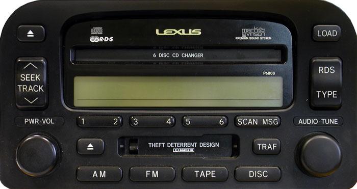 Штатная магнитола для Lexus P6808 фото