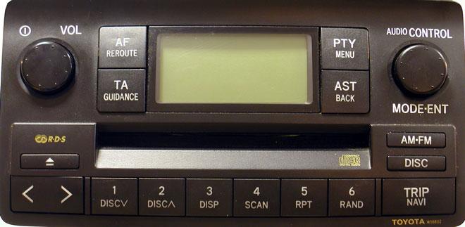 Штатная магнитола для Toyota W58802 фото