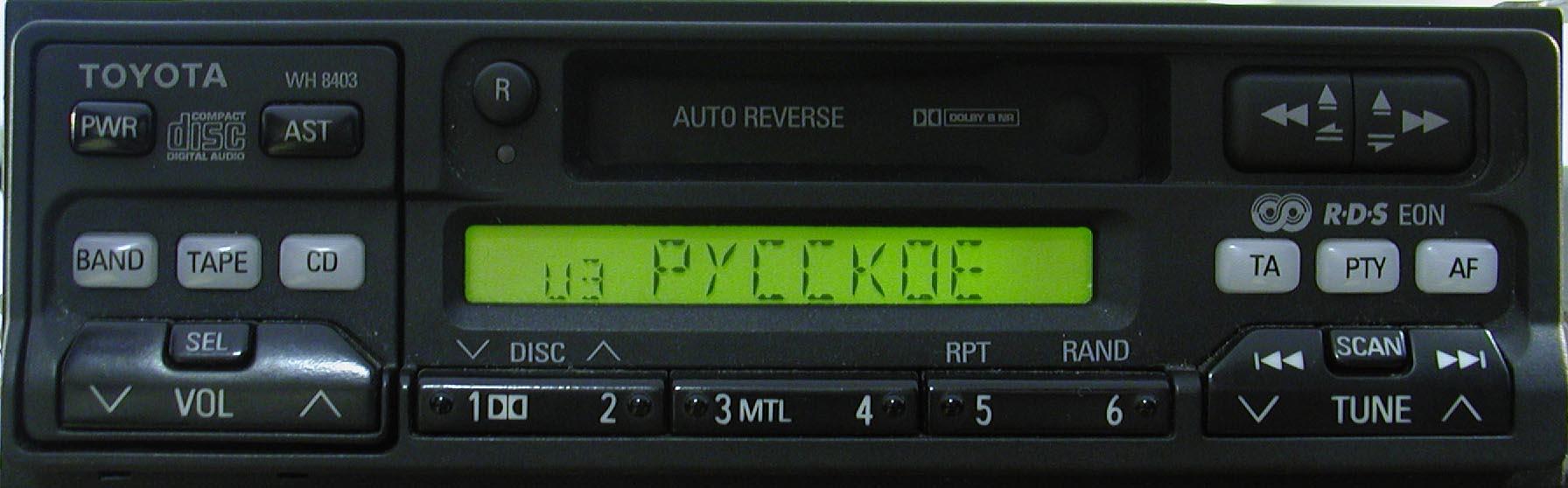 Штатная магнитола для Toyota WH8403 фото