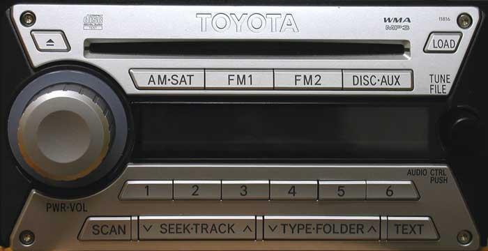 Штатная магнитола для Toyota 11816, 11817, 11828 фото