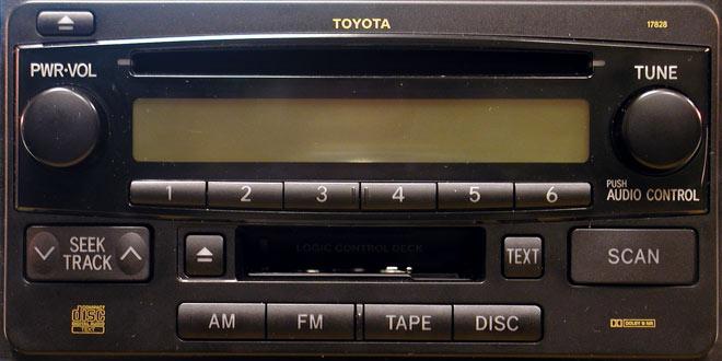 Штатная магнитола для Toyota 16852, 17828 фото