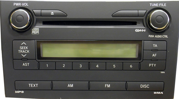 Штатная магнитола для Toyota 53816, 53818 фото