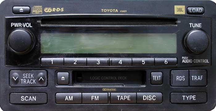 Штатная магнитола для Toyota A56829 фото
