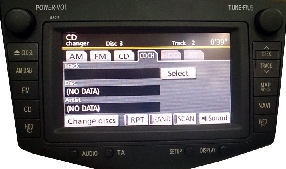Штатная магнитола для Toyota B9017 (с HDD) фото
