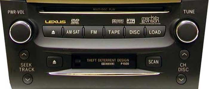 Штатная магнитола для Lexus P1500 фото