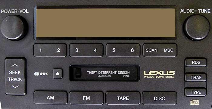 Штатная магнитола для Lexus P1740 фото