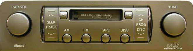 Штатная магнитола для Lexus P1733, P1750 фото