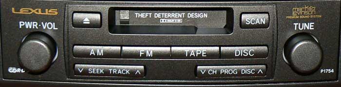 Штатная магнитола для Lexus P1754 фото